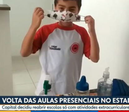 Aulas Presenciais no Estado: Colégio Santa Amália Tatuapé é destaque no SPTV