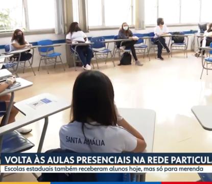 Colégio Santa Amália é destaque em reportagem sobre o retorno às aulas