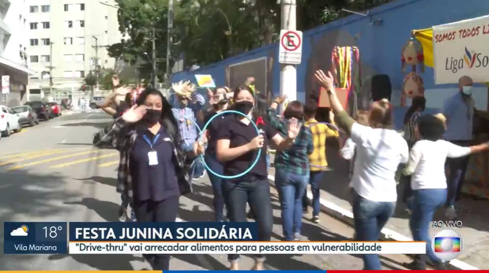 Colégio Santa Amália na Rede Globo: Festa junina solidária com Drive-Thru é destaque no telejornal SP1