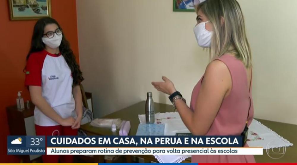 Colégio Santa Amália foi Destaque em reportagem no SPTV sobre a reabertura das escolas