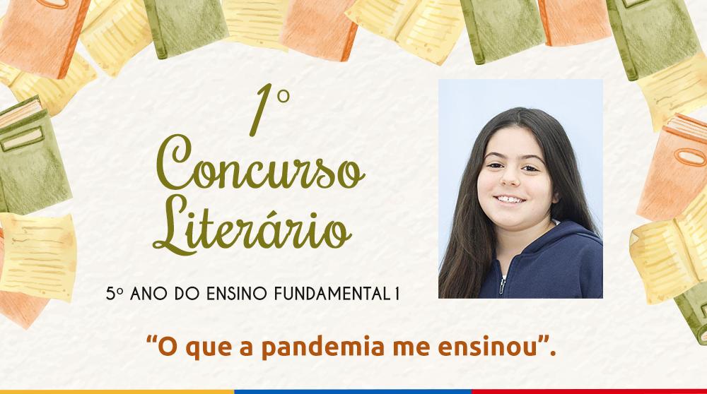 1º Concurso Literário: Confira o texto da aluna Helena Chaves