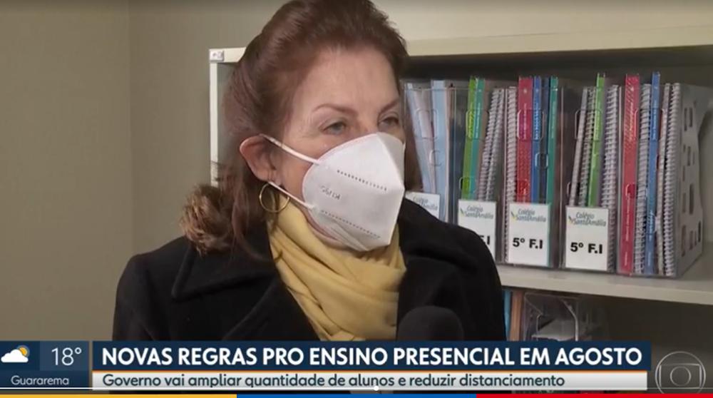 Educação e segurança: Adaptações no Colégio Santa Amália que garantem a saúde dos alunos é destaque na TV Globo